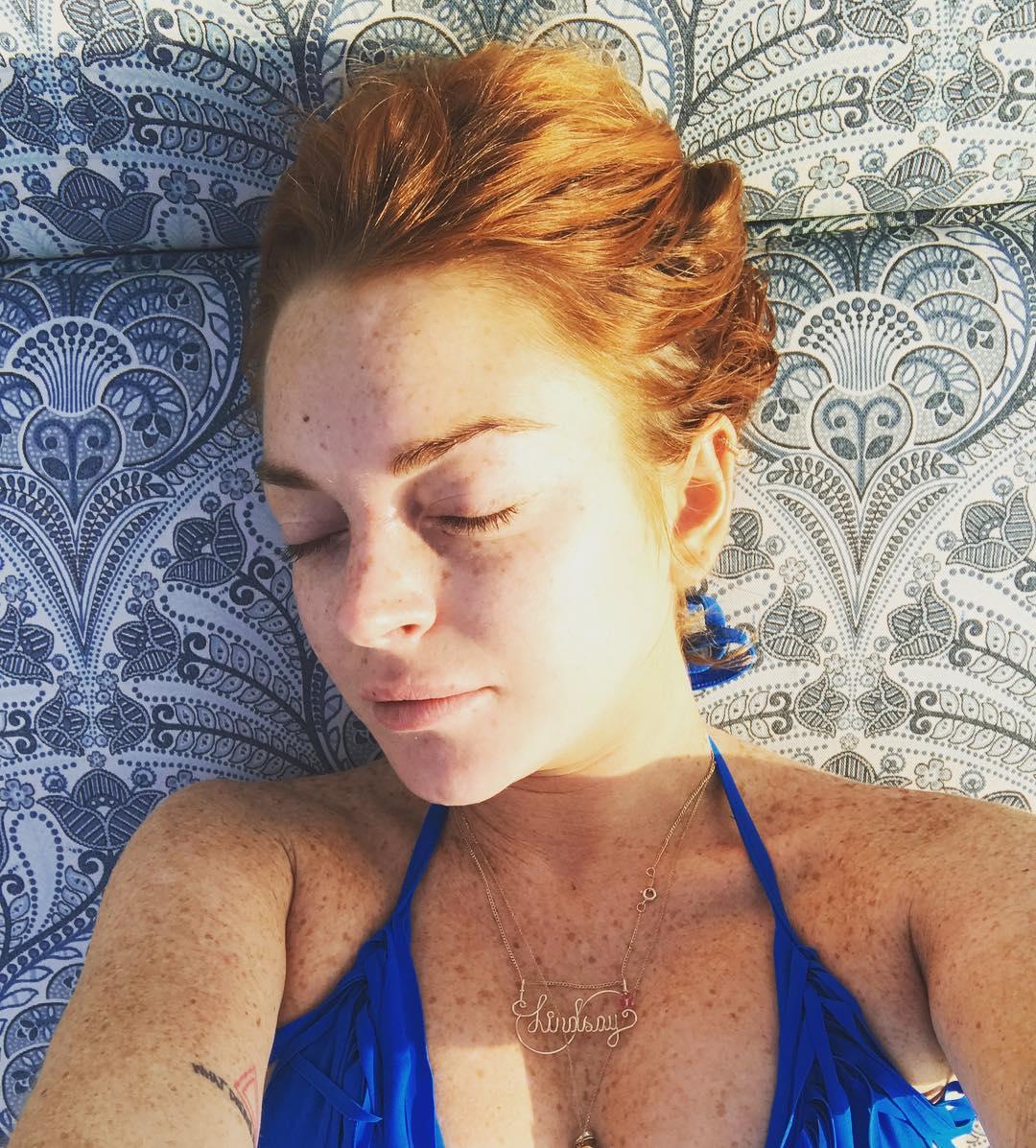 Lindsay Lohan Liburan di Gili Trawangan