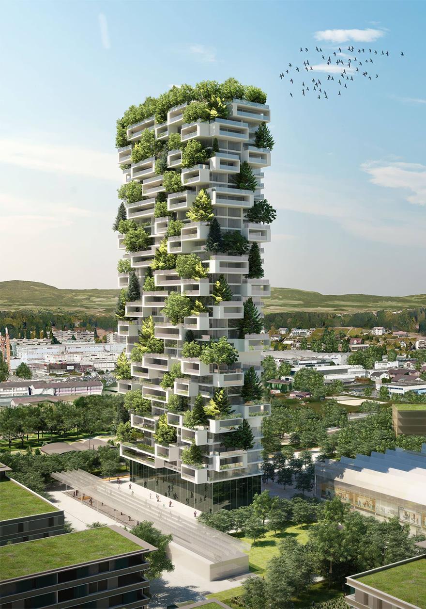 Inilah Satu-satunya Apartemen yang Akan Dihiasi Dengan 100 Pohon