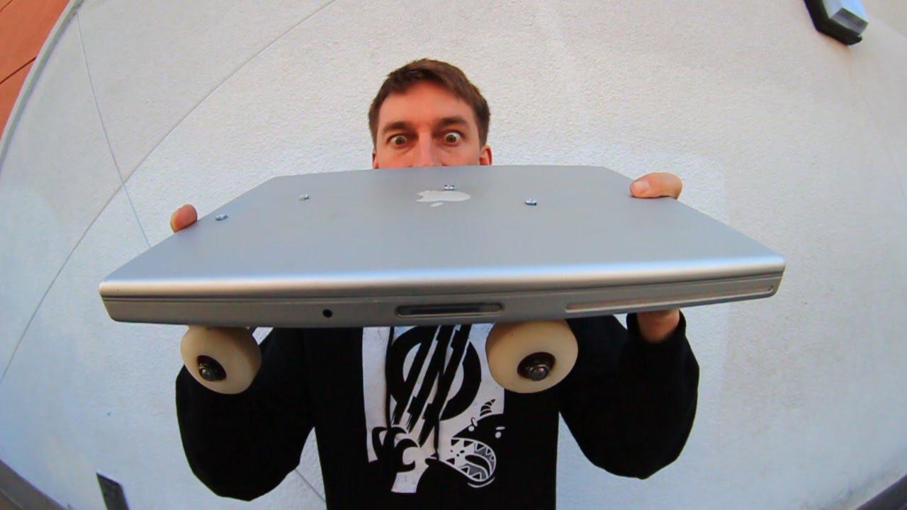 Macbook Pro Disiksa, Menjadi Papan Skateboard