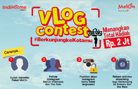 Melon dan The Rain Gelar Kontes Vlog #BerkunjungKeKotamu