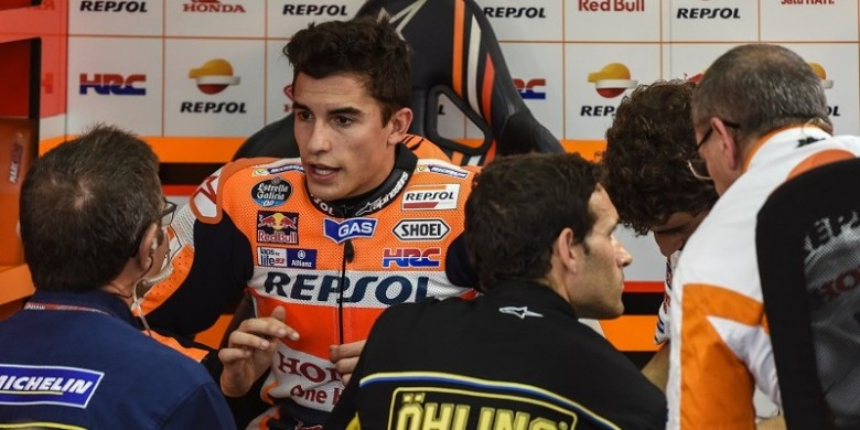 Marquez Targetkan  Podium Meski Belum Pulih 100 Persen
