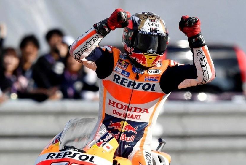 Marquez: Terima Kasih Tuhan, Gelar Juara Dunia Sudah di Tangan