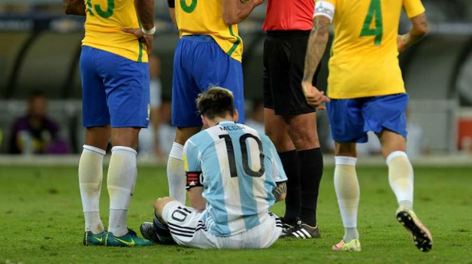 Messi Mati Kutu, Brasil Bantai Argentina
