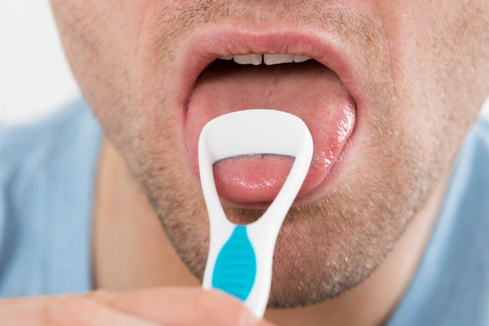 Hasil gambar untuk membersihkan lidah tanpa menyikat nya